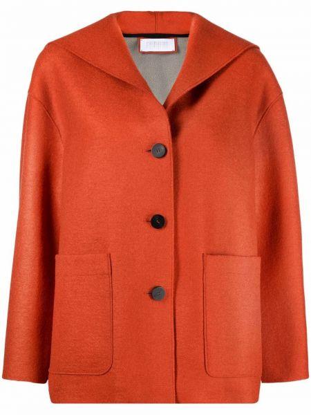 Оранжевая куртка с капюшоном Harris Wharf London