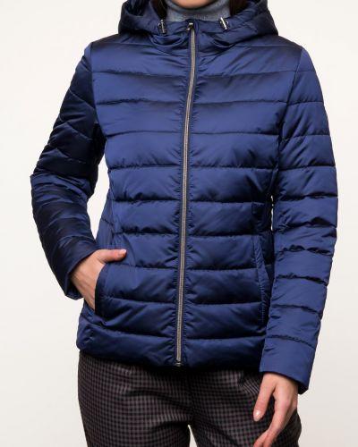 Текстильная утепленная синяя куртка каляев