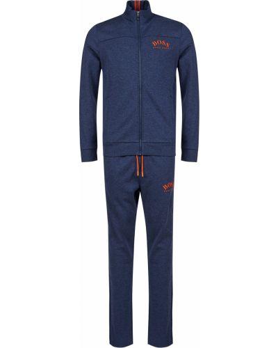 Хлопковый спортивный костюм - синий Hugo Boss