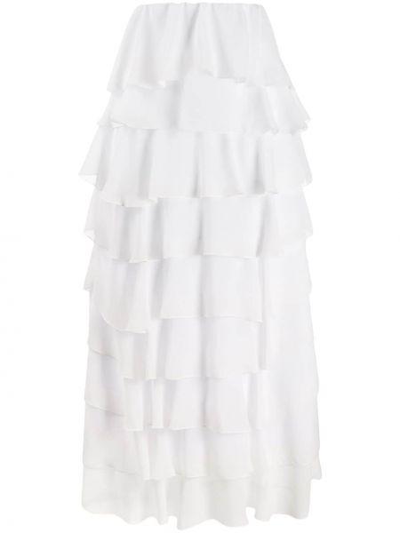 Biała ażurowa spódnica maxi z wysokim stanem So Allure