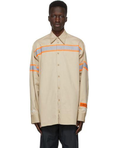Koszula bawełniana z haftem z długimi rękawami Heron Preston