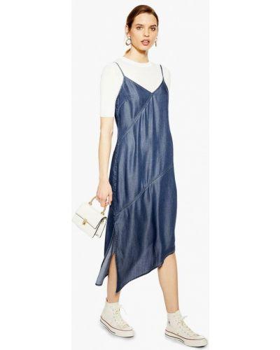 Джинсовое платье весеннее синее Topshop
