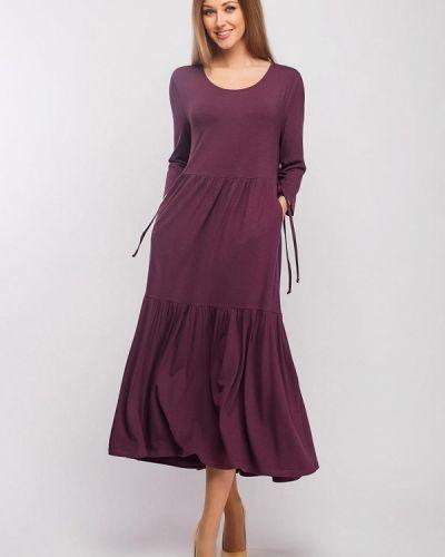 Повседневное фиолетовое платье Giulia Rossi
