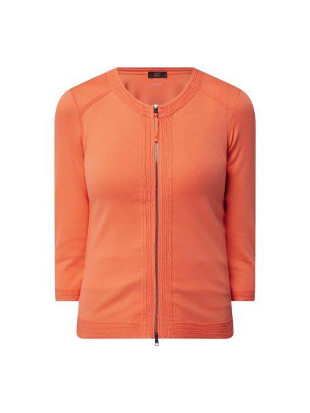Prążkowana pomarańczowa bluza bawełniana Marc Cain
