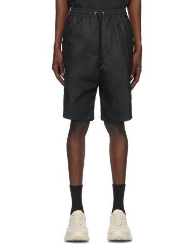 Хлопковые черные шорты карго с карманами Gucci