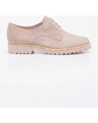 Туфли на шнуровке кожаные Tamaris