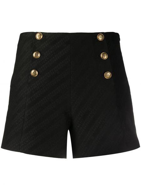 Szorty z wysokim stanem - czarne Givenchy
