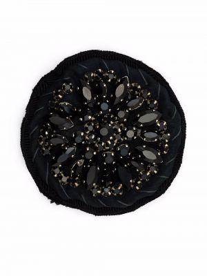 Czarna broszka Prada