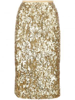 Юбка миди с завышенной талией - желтая Michael Kors