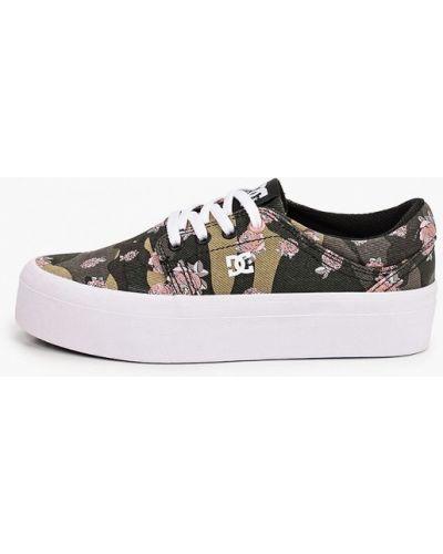 Текстильные пинетки хаки Dc Shoes