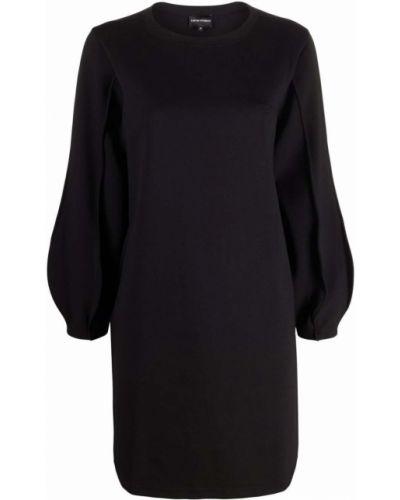 Черное платье длинное Emporio Armani