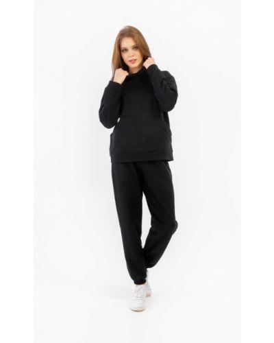 Домашний утепленный черный костюм Lena Basco