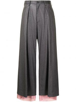 Spodnie z paskiem z printem Sulvam