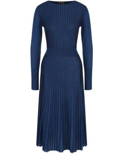Платье миди плиссированное шелковое Loro Piana