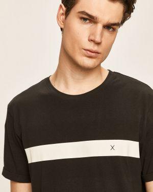 Czarny t-shirt bawełniany z printem Clean Cut Copenhagen