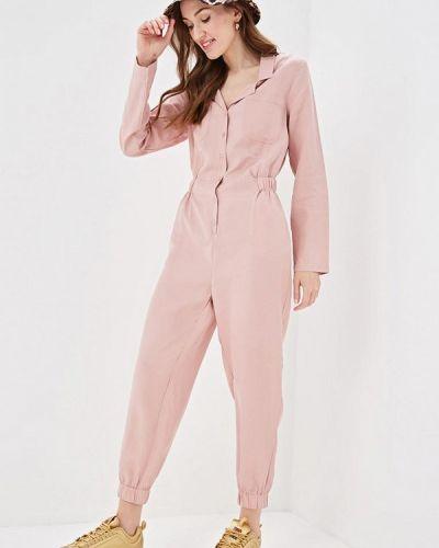 Брючный комбинезон - розовый Pink Woman