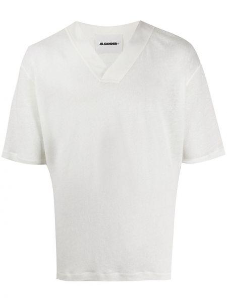 Koszula krótkie z krótkim rękawem prosto bielizna Jil Sander