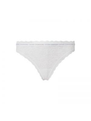 Białe majtki koronkowe z nylonu Ck One
