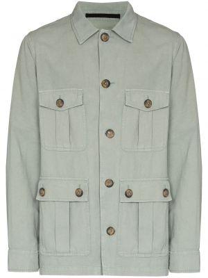 Zielona klasyczna kurtka Frescobol Carioca