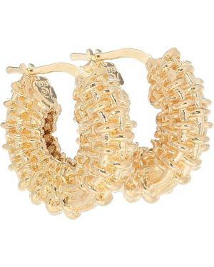 Золотые серьги серьги-кольца серьги-гвоздики Bottega Veneta