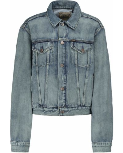 Хлопковая ватная синяя джинсовая куртка Polo Ralph Lauren