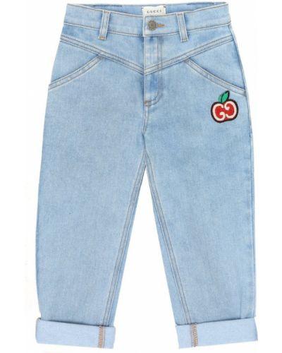Bawełna bawełna niebieski jeansy rozciągać Gucci Kids