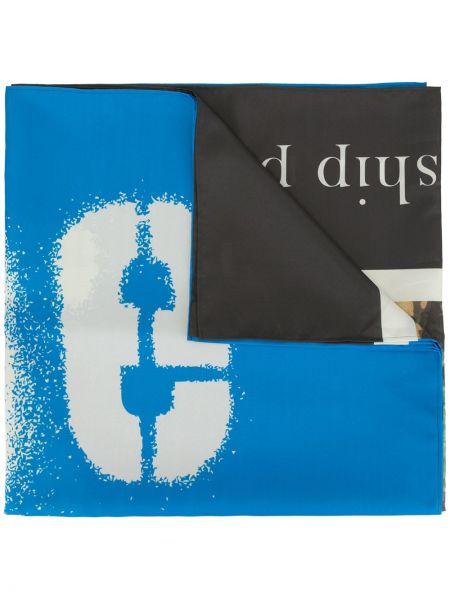Niebieski szalik z printem Undercover