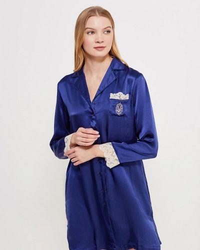 Синяя рубашка домашняя Mia Mia