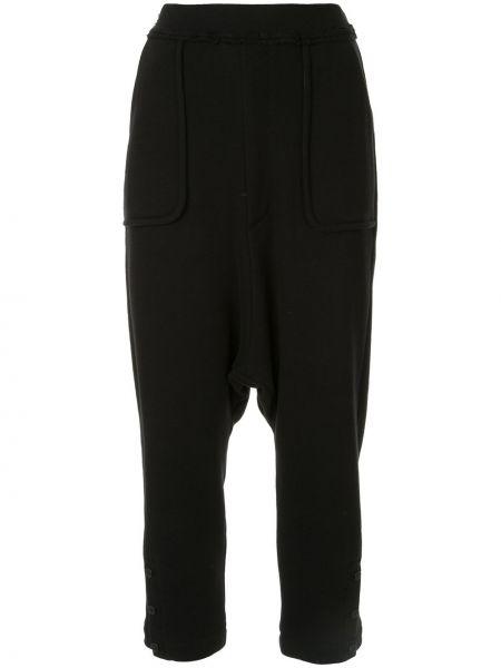 Хлопковые черные спортивные брюки с заниженным шаговым швом с карманами Yohji Yamamoto