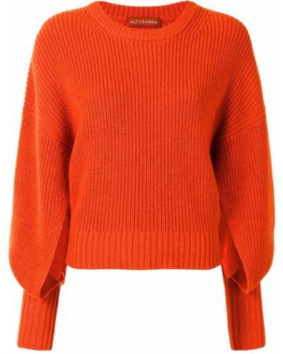 Z rękawami sweter z okrągłym dekoltem okrągły dekolt z mankietami Altuzarra