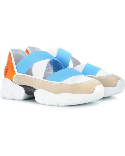 Miejski z paskiem włókienniczy sneakersy na paskach Emilio Pucci
