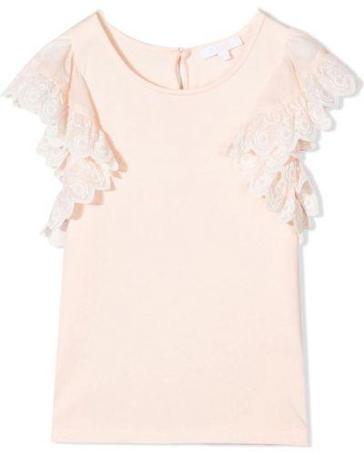 Różowa koszulka na lato Chloe