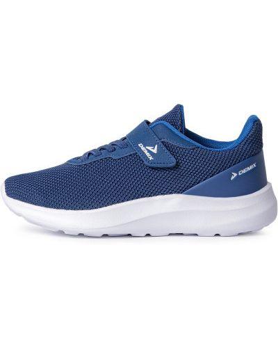 Синие кожаные кроссовки Demix