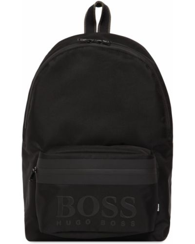 Нейлоновый рюкзак с карманами с тиснением Hugo Boss