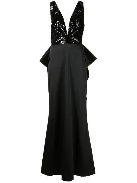 Czarna sukienka z dekoltem w serek Sachin & Babi