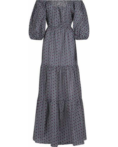 Хлопковое платье - синее Bagutta