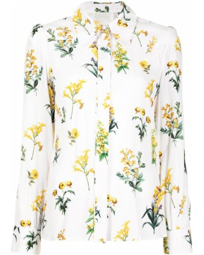 Белая классическая рубашка с воротником из вискозы Goat