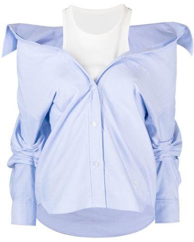 Niebieska koszula bawełniana z długimi rękawami Alexander Wang