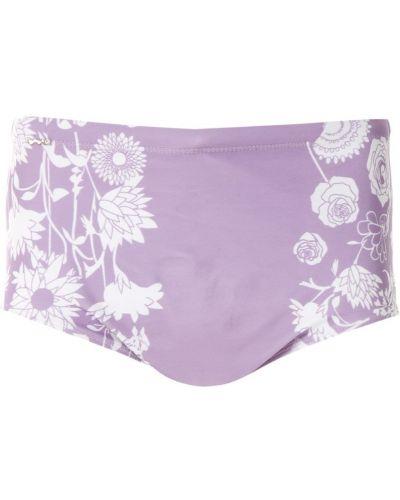 Фиолетовые плавки с подкладкой Amir Slama
