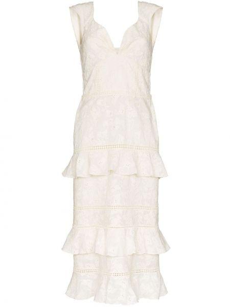 Платье с цветочным принтом каскадное Johanna Ortiz