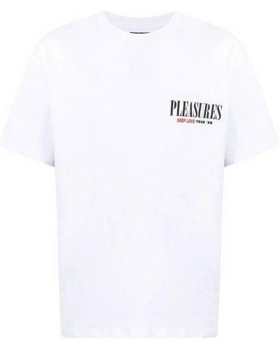 Biała t-shirt Pleasures