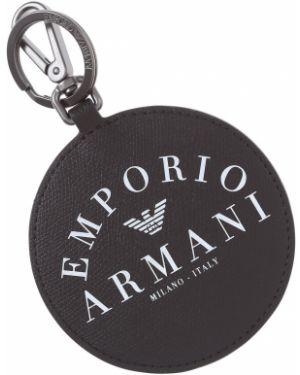 Czarny charms skórzany Emporio Armani