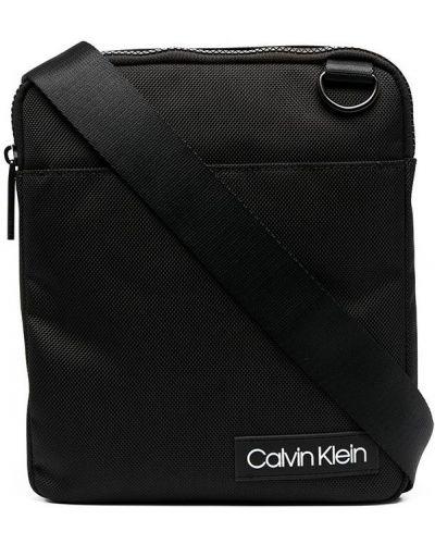 Сумка через плечо из полиэстера - черная Calvin Klein
