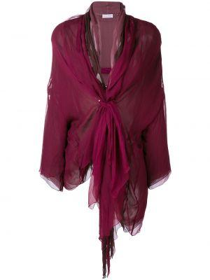 Шелковый красный топ с завязками винтажный Dolce & Gabbana Pre-owned