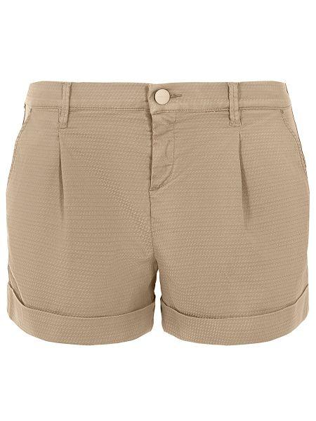 Бежевые короткие шорты с воротником с карманами на пуговицах Jacob Cohen