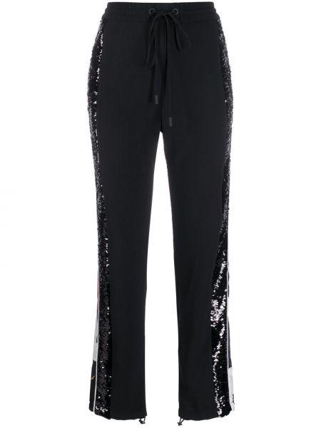 Черные спортивные брюки с поясом с пайетками Iceberg