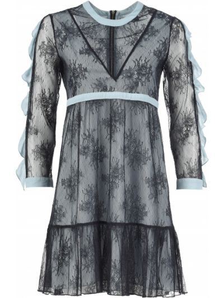 Платье из полиэстера - голубое Mangano