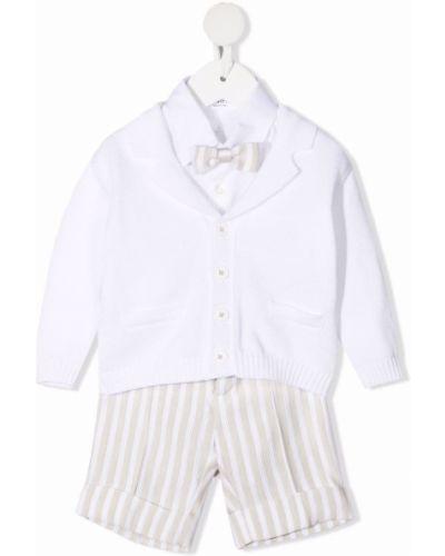 Prążkowany biały dres bawełniany Colorichiari