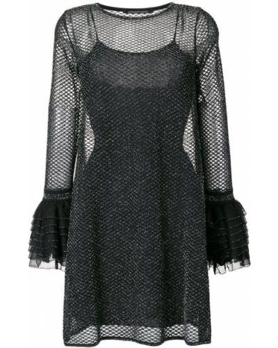 Платье шелковое с длинными рукавами Antonino Valenti
