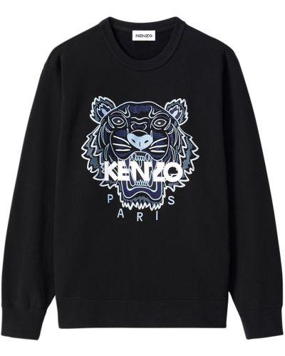 Czarny bluza z haftem Kenzo